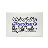 """Sexiest English Teacher"" Rectangle Magnet"