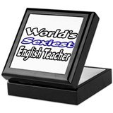 """Sexiest English Teacher"" Keepsake Box"
