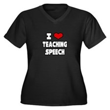 """I Love Teaching Speech"" Women's Plus Size V-Neck"
