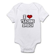 """I Love Teaching Speech"" Onesie"