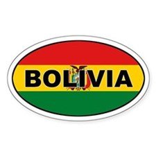 Bolivian Flag Oval Decal