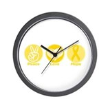 Peace Yel Hope Wall Clock