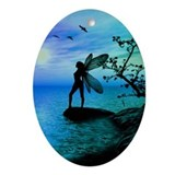 Fantasy Silhouettes Oval Ornament