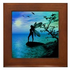 Tranquility ( Teal/Blue ) Framed Tile