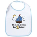 1st Birthday Sailboat Party Bib