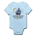 1st Birthday Sailboat Party Infant Bodysuit