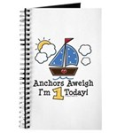 1st Birthday Sailboat Party Journal