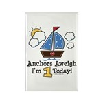 1st Birthday Sailboat Party Rectangle Magnet (10 p