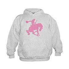 Pink Bronc Cowboy Hoodie