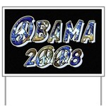Obama 2008 Earth Yard Sign