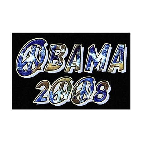 Obama 2008 Earth Mini Poster Print