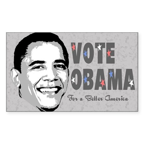 Obama Retro Rectangle Sticker