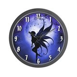 Indigo Fairy Wall Clock