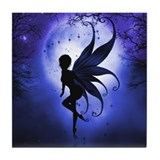 Indigo Fairy Tile Coaster