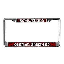 Schutzhund German Shepherd License Plate Frame