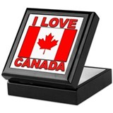 "Canadian Flag ""I Love Canada"" Keepsake Box"