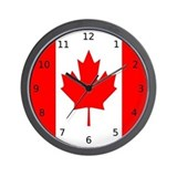Canadian Flag &quot;I Love Canada&quot; Wall Clock
