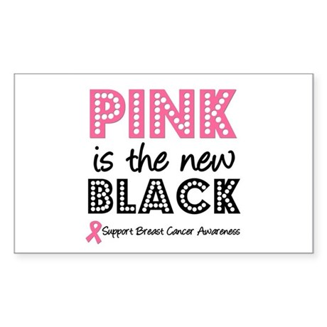 PinkisTheNewBlack (v2) Rectangle Sticker