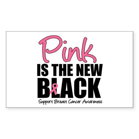 PinkisTheNewBlack (v3) Rectangle Sticker