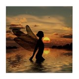 Fairy at Sunset Tile Coaster