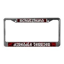 Schutzhund Airedale Terrier License Plate Frame