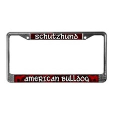 Schutzhund American Bulldog License Plate Frame