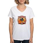 Riverside FD Station 8 Women's V-Neck T-Shirt