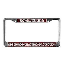 Red Schutzhund License Plate Frame