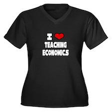 """I Love Teaching Economics"" Women's Plus Size V-Ne"
