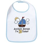 3rd Birthday Sailboat Party Bib