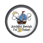 3rd Birthday Sailboat Party Wall Clock