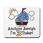 3rd Birthday Sailboat Party Mousepad