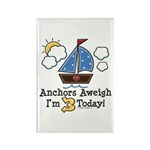 3rd Birthday Sailboat Party Rectangle Magnet (100