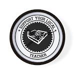 Support Teacher Wall Clock