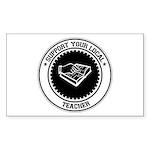 Support Teacher Rectangle Sticker 10 pk)