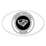 Support Teacher Oval Sticker (50 pk)