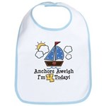 4th Birthday Sailboat Party Bib