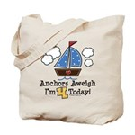 4th Birthday Sailboat Party Tote Bag