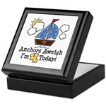 4th Birthday Sailboat Party Keepsake Box