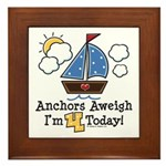 4th Birthday Sailboat Party Framed Tile