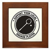 Support Squash Player Framed Tile