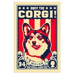 Obey the Corgi! Large Propaganda Poster