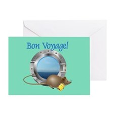 Sailing Mouse on Vacation Greeting Card