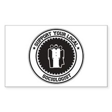 Support Sociologist Rectangle Sticker 10 pk)
