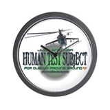 Human Test Subject Wall Clock
