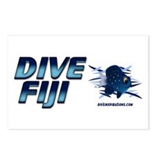 Dive Fiji (blue) Postcards (Package of 8)