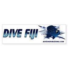 Dive Fiji (blue) Bumper Bumper Sticker