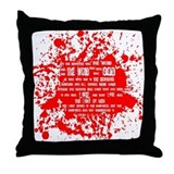 Funny In the beginning was the word Throw Pillow