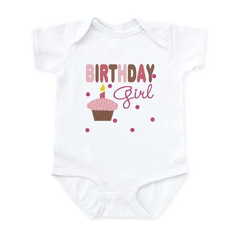Birthday Girl Cupcake Baby Infant Bodysuit