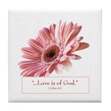 Blush Scripture Tile Coaster